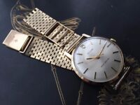 Vintage ROLEX Tudor in solid 9k 9ct gold mens watch with 9ct gold strap