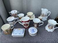 Royalty collection - mugs and cups some 100 years old
