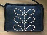 Brand NEW Orla Kiely Laced Stem Leather Abby bag, Midnight