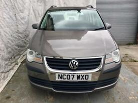 2007 VOLKSWAGEN TOURAN 1.6 S 5DR NEW SHAPE(7 Seats)FULL SERVICE HISTORY,3MONTHS WARRANTY 07459871313