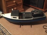Remote controlled model fishing boat - home made