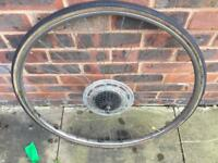 Vintage 27 x 1 3/4 road bike wheel and tyre