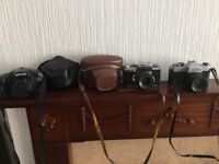 Collection only - Three cameras with two cases