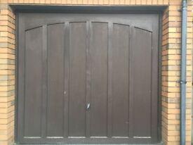 Cardale single garage door, brown