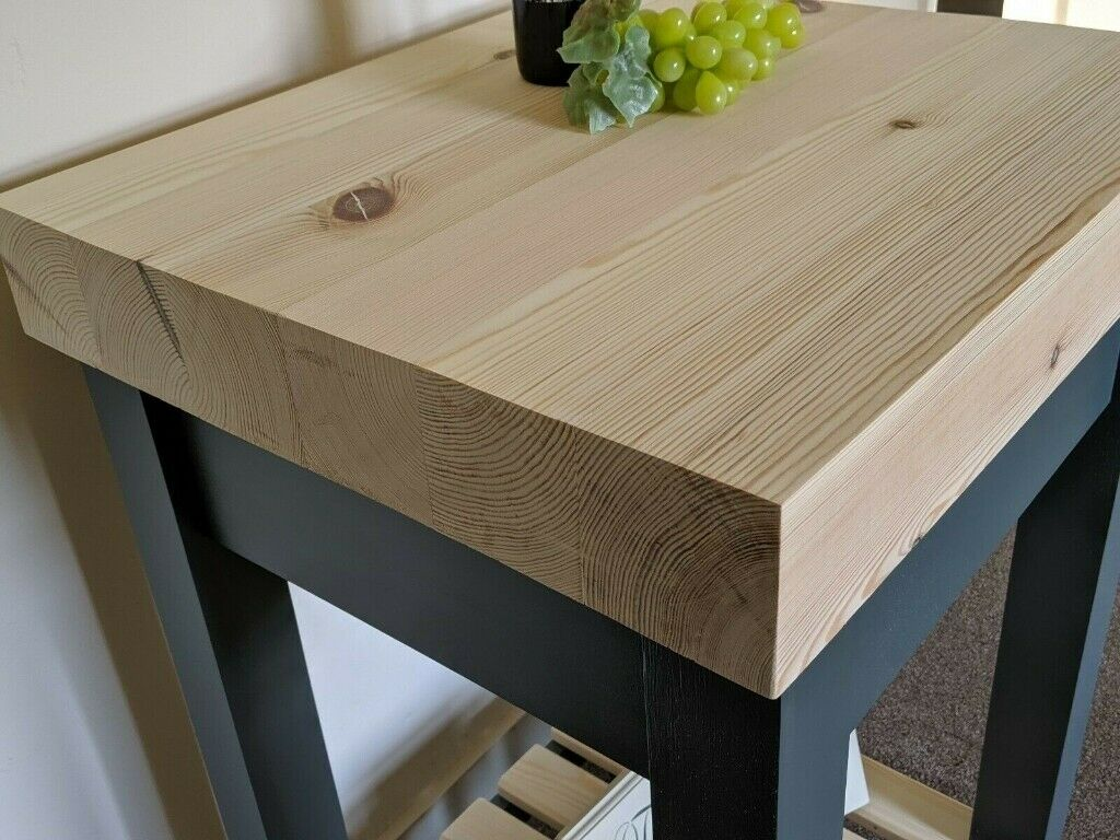 Kitchen Island Table Thick 4 Butcher S Block Style With Shelf Shabby Chic In Brigg Lincolnshire Gumtree