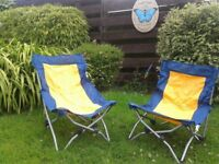 Portable foldable camping chairs (2)