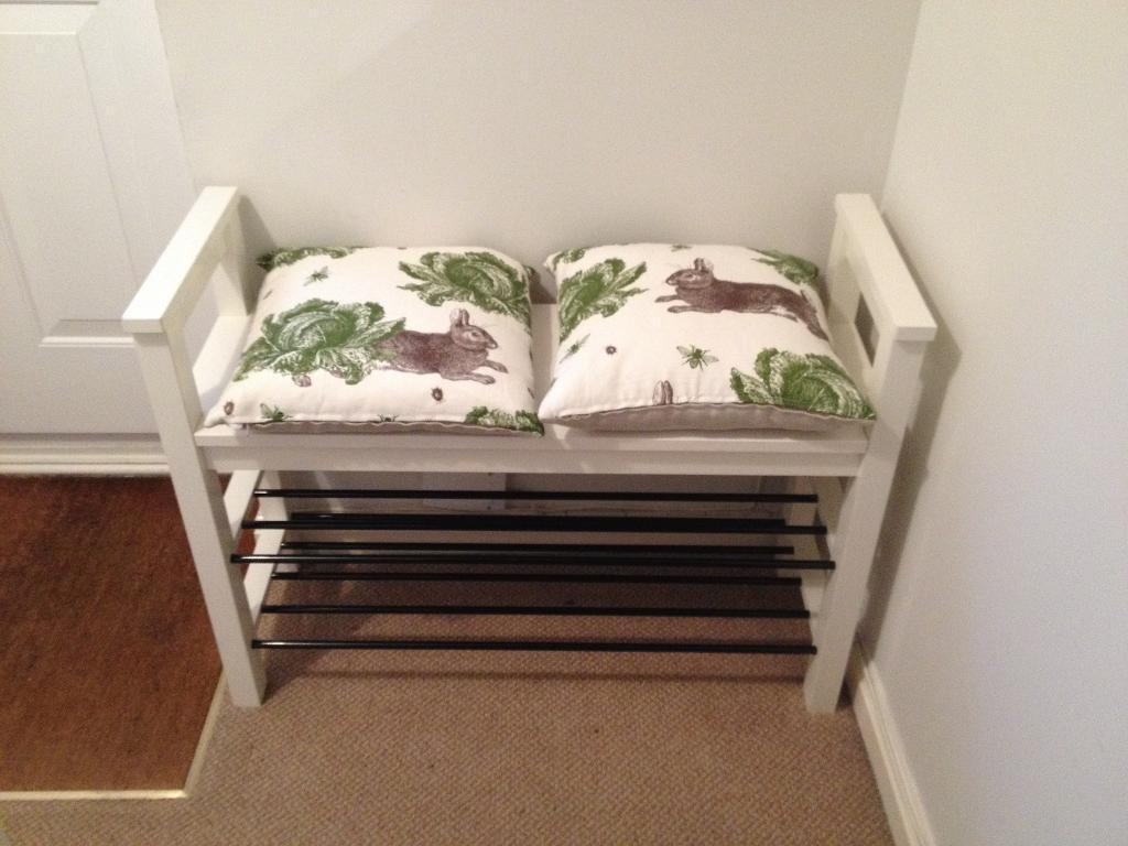 Ikea Hemnes Shoe Bench White Cushions Not Included