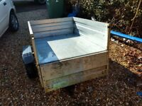 Trailer - galvanised steel 1.28m x 0.97m. Priced to sell quickly