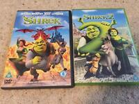 Shrek 1 and 2 DVD £1