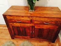 Solid oak sideboard and coffee table