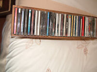 LARGE COLLECTION OF CDs PLUS 2 RACKS. 70S/80s/90s/20s all in good condition