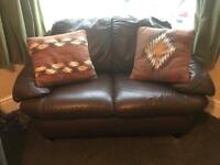 2 seater leather effect sofa
