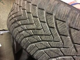 Single 205 55 16 Contiwinter contact tyre on BMW alloy wheel