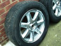 18inch Jeep Alloy Wheels x 5, will fit some other 4x4s 5stud
