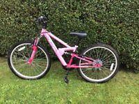 """Girls 24"""" full suspension bike"""