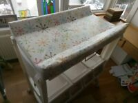 Cosatto changing table with bath and matching high chair