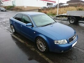 2002 Audi A4 B6 1.8t AVJ Manual blue Saloon BREAKING FOR PARTS SPARES