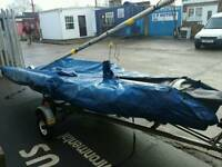 Sailing boat lazer 400