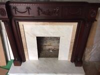 Fireplace Surround with Pure Marble back and hearth