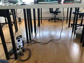 6 X Ikea desks with height adjustable legs (LINMON)