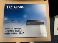 TP-LINK 8 Port 10/100 Desktop Switch New, mint condition