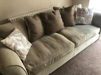 3 Piece Suite and large footstool