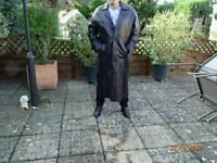 Gents full length leather coat