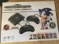 *NEW* Sega Mega Drive / Megadrive Classic game Console with 81 built in games and cartridge slot