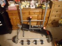 Weight bench,weights-set for sale
