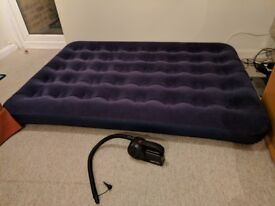 Double airbed + Coleman Quickcharge rechargeable airbed pump