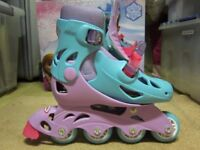 Disney Frozen Roller Skates, Blue / Pink, Size 11.5 to 1, Excellent Condition - ideal for Christmas!
