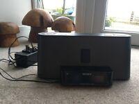 Sony FM/AM radio alarm with iPod dock
