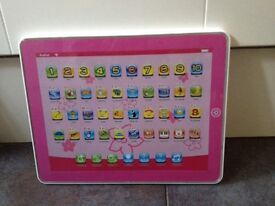 Chad Valley pink touch and learn mini pad