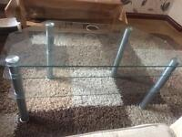 Glass TV stand. 3 Tier. Good condition.