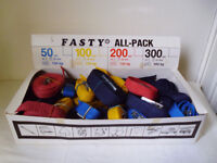 FASTY STRAPS BOX OF 40 NEW STRAPS