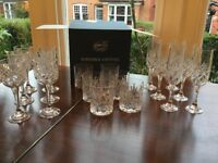 Crystal glasses, full set, boxed, perfect and unused
