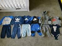 Nike and Adidas clothes bundle size 6-9 and 9-12 months baby