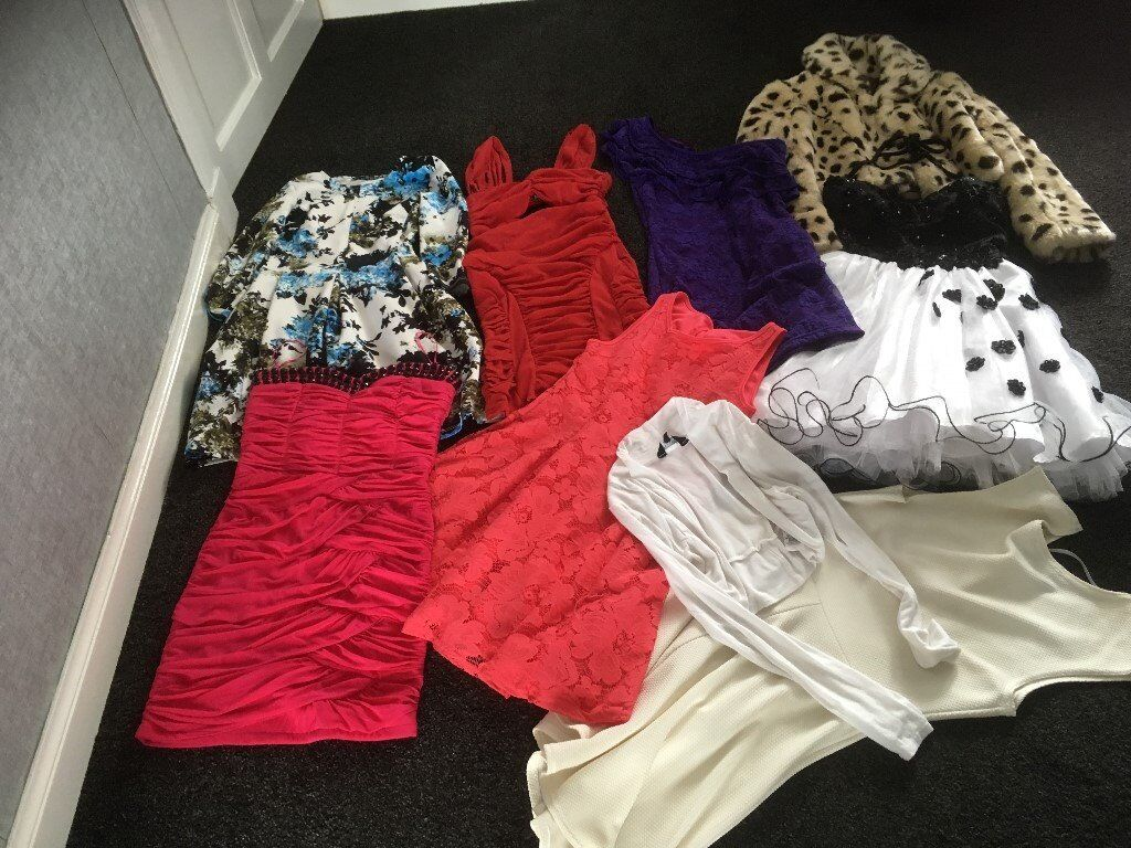 PARTY DRESSES/COATin Larkhall, South LanarkshireGumtree - SELLING 7 PARTY DRESSES /DRESSY FUR COAT/ SMALL CARDIGAN AND 3 DRESSINGS GOWNS AGE 10YRS TO 12YRS QUICK SALE @ £20 LOT