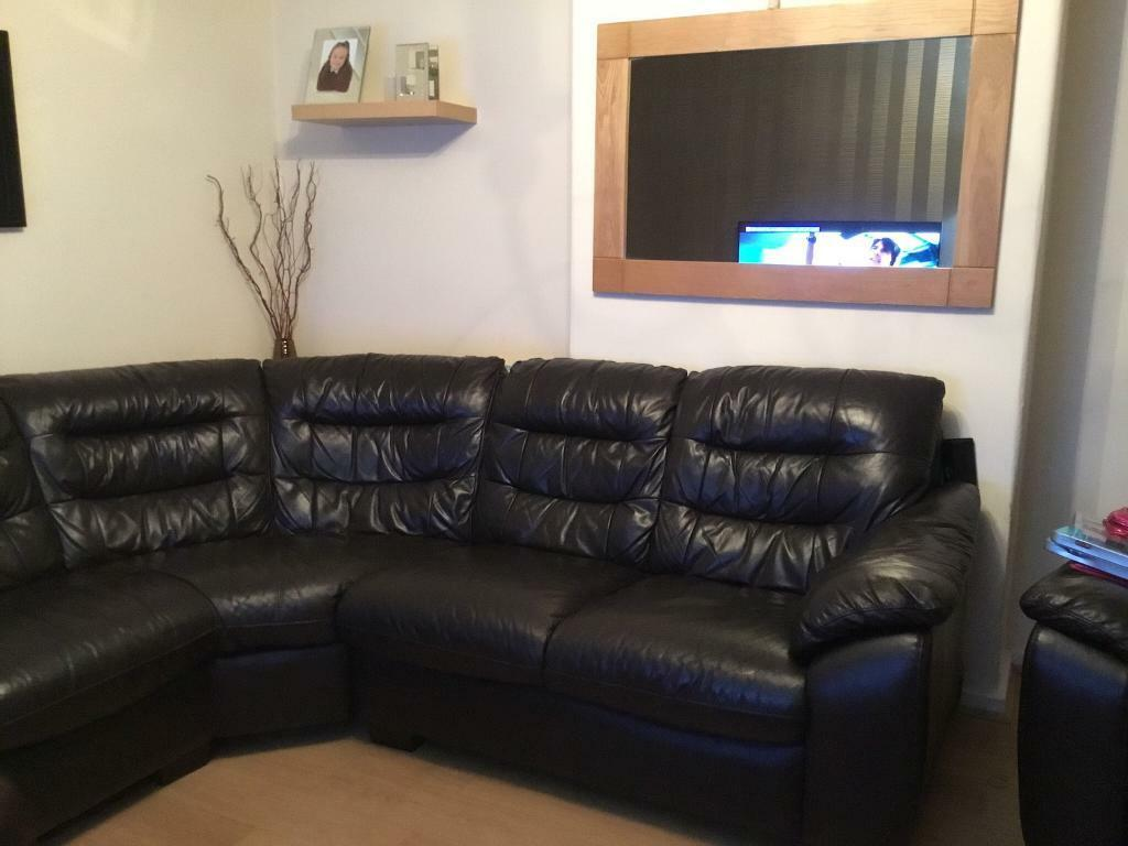 Dfs Leather Corner Sofa And Electric Reclining Chair With