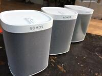 Three Sonos Play speakers