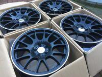 "4 x NEW 18"" BBS LM STYLE ALLOY WHEELS 5x112 VW GOLF MK5 MK6 AUDI A3 S3 RS3 POLO MERCEDES W203 W204"