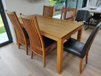 Solid Oak Extending Dining Table Solid Wood