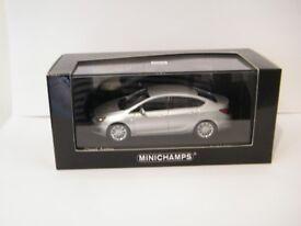 Minichamps, Opel Astra , silver, 1-43 scale model car