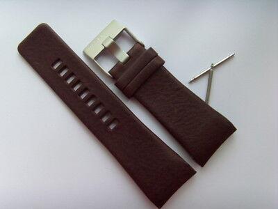 DIESEL Original Ersatzband Lederarmband DZ1179 Uhrband braun watch strap brown