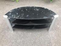 Black glass TV unit £20
