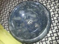 Counter top granite black sink