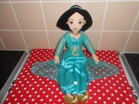 "PRINCESS JASMINE SOFT TOY - DISNEY STORE EXCLUSIVE - 20"" TALL"