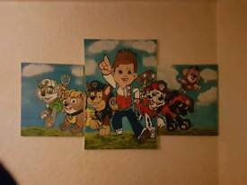 REDUCED Paw patrol picture x3