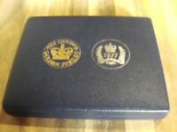 The Queens Golden Jubilee .Gold and Silver 4 Coin Set, Limited Edition.
