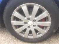 VW SEAT SKODA ALLOYS WHEEL 16 ich SET OF 4